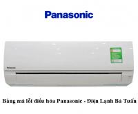 Bảng mã lỗi điều hòa Panasonic