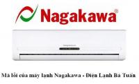Bảng mã lỗi điều hòa Nagakawa